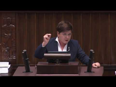 Przemówienie Beaty Szydło.