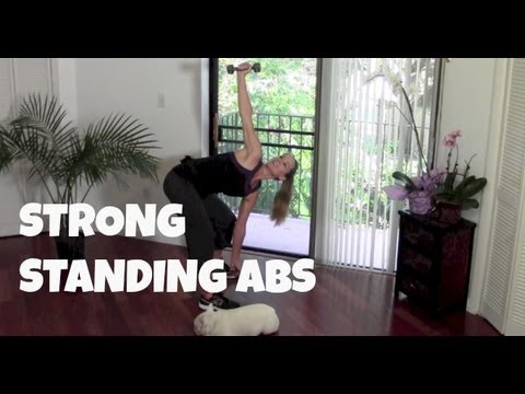 Strong Standing Abs (standing abs, abs workout, abs exercises using dumbbells)