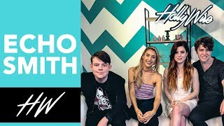 Echosmith Talks Brushing Teeth while Working Out! - HOLLYWIRETV