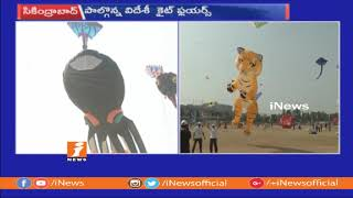 Hyderabad People Enjoying International Kite Festival at Parade Grounds | iNews - INEWS