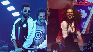 Vicky Kaushal, Taapsee Pannu & Abhishek Bachchan Show Their Moves At A College Fest In Mumbai - ZOOMDEKHO