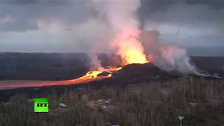 More Apocalyptic Scenes: Kilauea volcano lava river flows in Hawaii - RUSSIATODAY