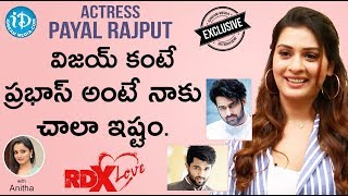 RDX Love Actress Payal Rajput Exclusive Interview || Talking Movies With iDream - IDREAMMOVIES