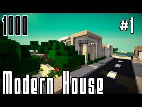 Minecraft : Modernes Haus 5 bauen - #001 - 1000 Abospeziale