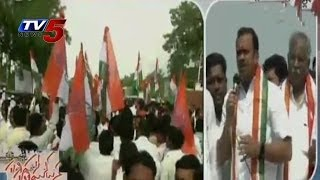 Komatireddy Venkat Reddy on Road Show in Nalgonda - TV5NEWSCHANNEL