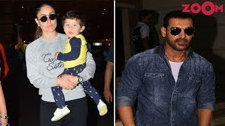 Kareena & Taimur Dazzled In Their Casual Look | John Looked Dashing In Denim Wear | Style Today - ZOOMDEKHO