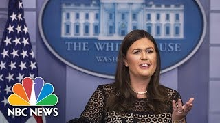 Watch Live: Sarah Huckabee Sanders Leads Panel Discussion on President Trump's First Year In Office - NBCNEWS