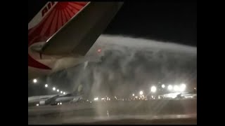 Air India's plane catches fire at Delhi Airport - ABPNEWSTV