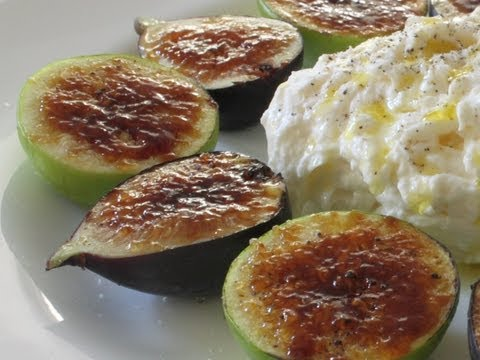 Fig Brulee Recipe - How to Brulee Fruit