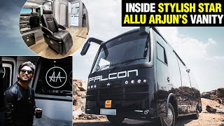 Allu Arjun's Super Luxurious Vanity Van, Falcon | #AAFALCON | Most Expensive #Vanity Van In India - RAJSHRITELUGU