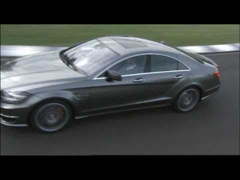 New Mercedes CLS 63 AMG 2011 Race Track Driving