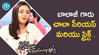 బాలాజీ గారు చాలా సీరియస్ మరియు స్ట్రిక్ట్ - Megha Chowdary || Talking Movies With iDream - IDREAMMOVIES
