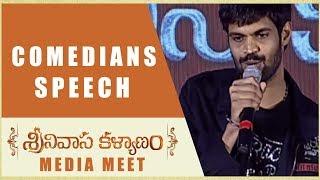 Srinivasa Kalyanam Comedians Speech - Srinivasa Kalyanam Media Meet - Nithiin, Raashi Khanna - DILRAJU