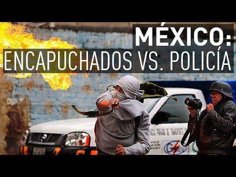 México: Encapuchados se enfrentan con la Policía cerca del aeropuerto del D.F.