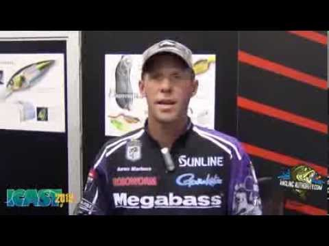ICAST2013 Aaron Martens and the Megabass Magnum 110