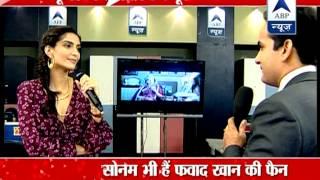 Sonam Kapoor promotes upcoming flick 'Khoobsurat' in ABP Newsroom - ABPNEWSTV