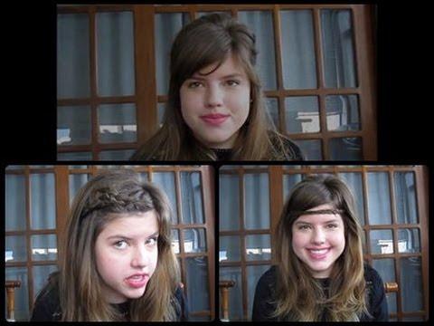 ♥5 penteados para cabelos com ou sem franja + como estilisar / arrumar a franja