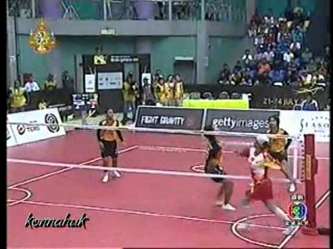 Thailand Vs Vietnam''Women Final''2011 Sepak Takraw World Championship Part 1