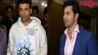 B-Town Celebs Karan Johar & Varun Dhawan Watch Ishaan Khatter & Janhvi Kapoor's 'Dhadak' - ZOOMDEKHO