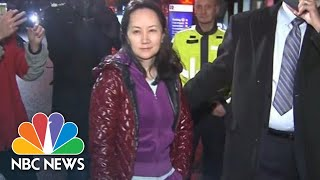 Huawei Executive Wanted By U.S. Dodges Reporters' Questions After Bail In Vancouver | NBC News - NBCNEWS