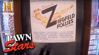 "Pawn Stars: Huge Six-Sheet ""Ziegfeld Follies"" Poster (Season 14) 