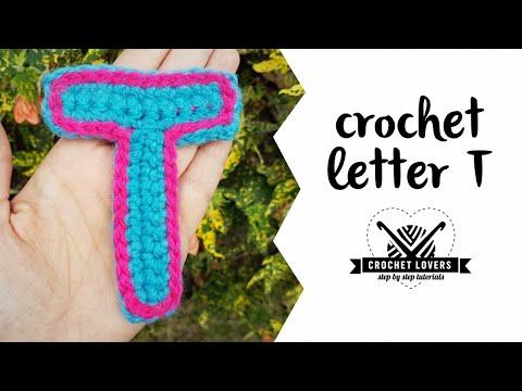 How to crochet LETTER T ♥ CROCHET LOVERS
