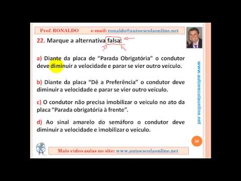 AULA 42 PROVA SIMULADA DE SINALIZAÇÃO - LEGISLAÇÃO DE TRÂNSITO - DETRAN