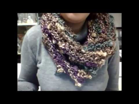 DIY TUTORIAL Scaldacollo lana FLEUR quadrifoglio parte 2 How To Knit a scarf