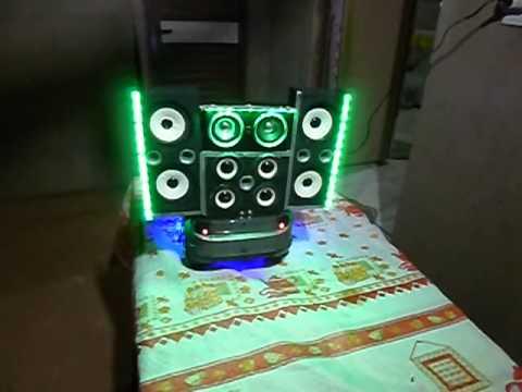 mini carro de som projeto paredão com iluminaçao