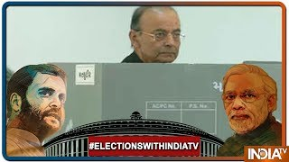 Lok Sabha Elections 2019: BJP leader Arun Jaitley casts his vote at a polling booth in Ahmedabad - INDIATV