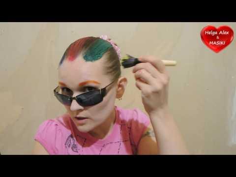 Как покрасить волосы гуашью в домашних условиях пошагово