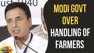 Randeep Surjewala slams Modi government over the handling of the Farmers | Mango News - MANGONEWS