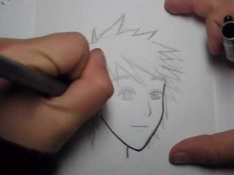 How to Draw Manga Hair:  Simple Male Hairstyle