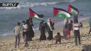 Gaza flotilla protest: At least 25 injured by Israeli fire - RUSSIATODAY
