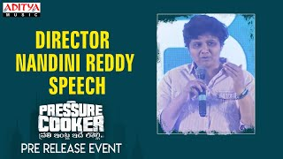 Director Nandini Reddy Speech @ Pressure Cooker Movie Pre Release Event - ADITYAMUSIC