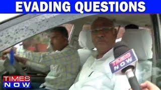 Mallikarjun Kharge, Congress Leader Evades Questions On Safdar Nagori's Confession Tape - TIMESNOWONLINE