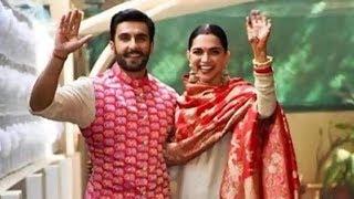 Ranveer Singh and Deepika Padukone at Ranveer Singh's residence in Mumbai - ITVNEWSINDIA