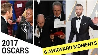 Top 6 Most Awkward Moments From the 2017 Oscars! - HOLLYWIRETV