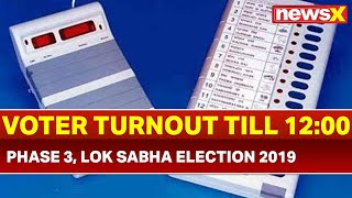 Lok Sabha Election 2019 Phase 3 Voting: Voter Turnout in 14 states, 2 UT, 117 seats till 12:00 PM - NEWSXLIVE