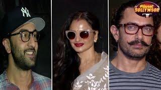 Ranbir, Rekha, Jacqueline Attend Aamir Starrer 'Secret Superstar' Screening   Bollywood News - ZOOMDEKHO