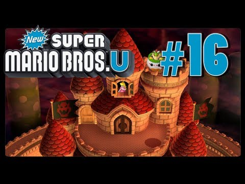 New Super Mario Bros. U - Part 16 - Peach's Castle (Co-Op)