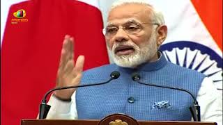 PM Modis Speech at Joint Press Statement with Japanese PM Shinz | Mango  News - MANGONEWS