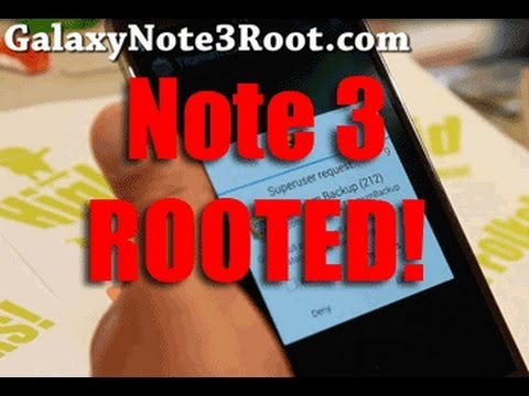 How to Root Galaxy Note 3!
