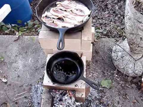 Brick Rocket Stove Cooking