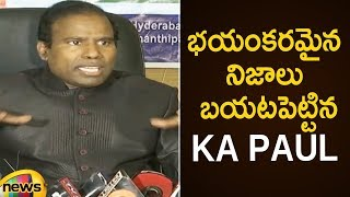 KA Paul Reveals Shocking Facts About AP Assembly Elections | KA Paul Press Meet | Mango News - MANGONEWS