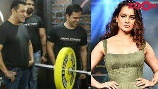 Salman Khan gives a fitness challenge | Kangana celebrates completion of Manikarnika & more - ZOOMDEKHO