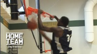 14 Year Old's Huge Dunk After Going Through Defender's Legs