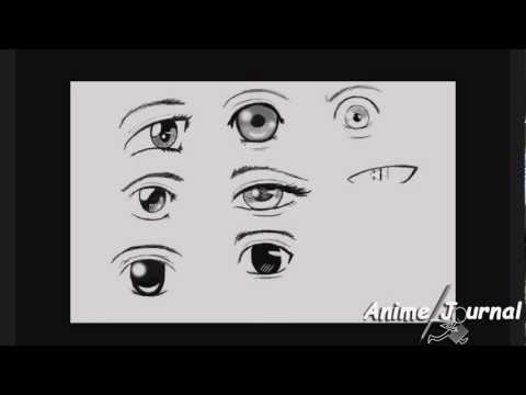 Tutorial: How to Draw Cute Anime Eyes- 9 Ways  [HD 720]