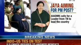 NewsX: Jaya aim to be PM, says party wants it, could cause trouble for Modi - NEWSXLIVE