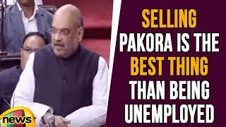 Selling Pakora Is the Best thing Than Being Unemployed, Says Amit Shah | Lok Sabha | Mango News - MANGONEWS